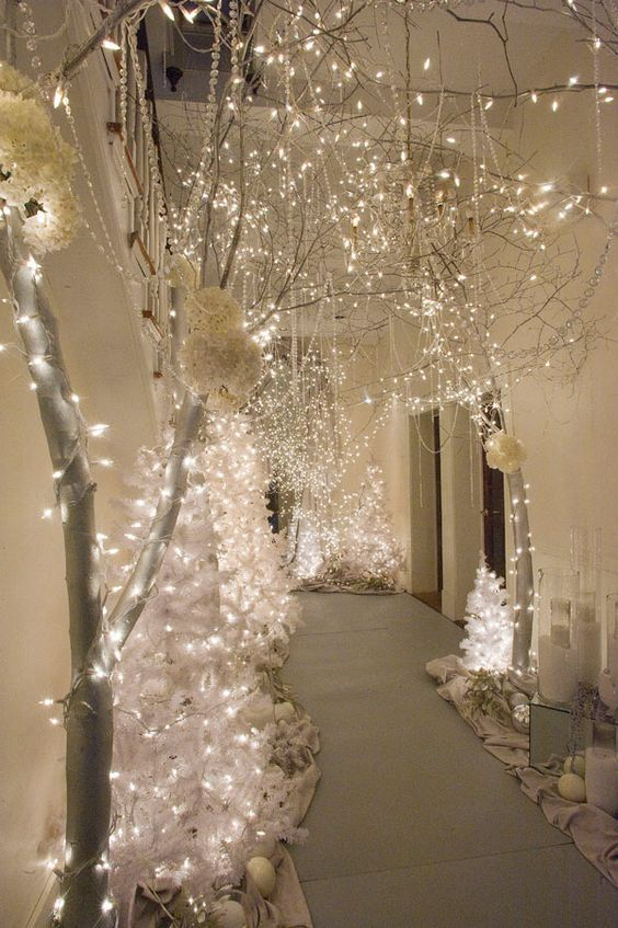 30 Diy White Christmas Decorations For The Home Winter Wonderland Decorations Winter Wonderland Christmas Wonderland Party Decorations