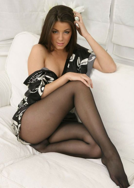 women in just pantyhose