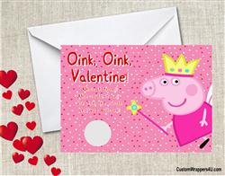 Peppa Pig Valentines Day Card, Peppa Pig Princess, Valentine Scratch Off  Card