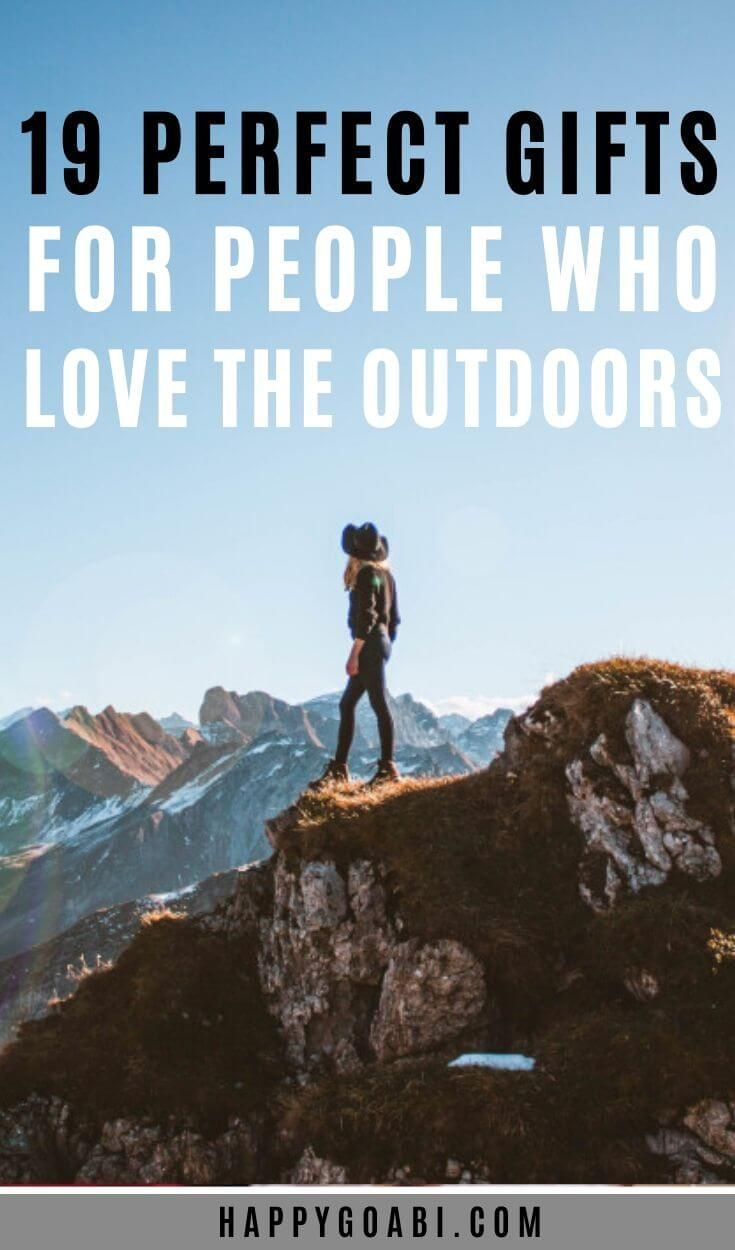 19 of the Best Gifts for Outdoor Lovers (Hiking, Camping, and More!) #thegreatoutdoors