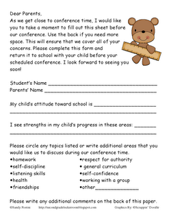 Ms FioriniS Stadium Parent Teacher Conferences  Esl Parenting