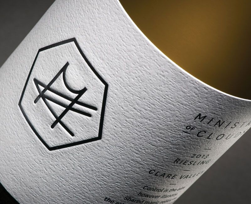 Klim Type Foundry Ministry of Clouds Wine label design