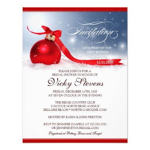 Christmas Bridal Shower Invitation Template Christmas bridal - business invitation templates