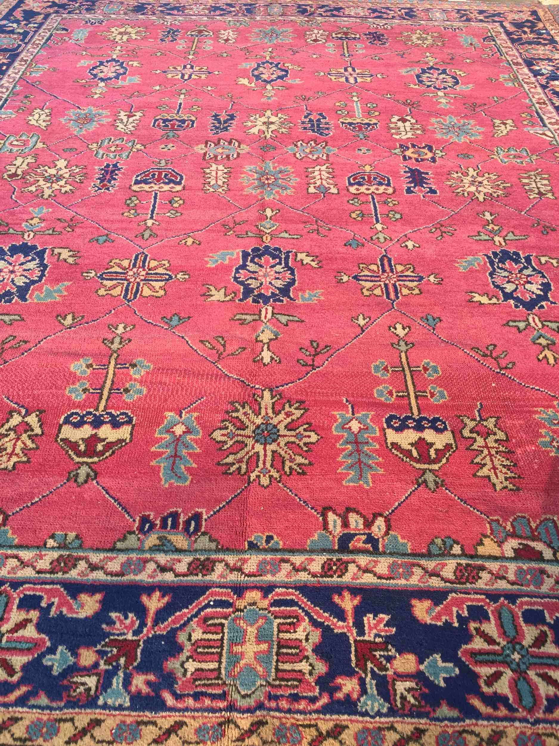 Vintage Turkish Rug 10x12 Oushak Isparta Rug Rugs Vintage Turkish Rugs Turkish Rug