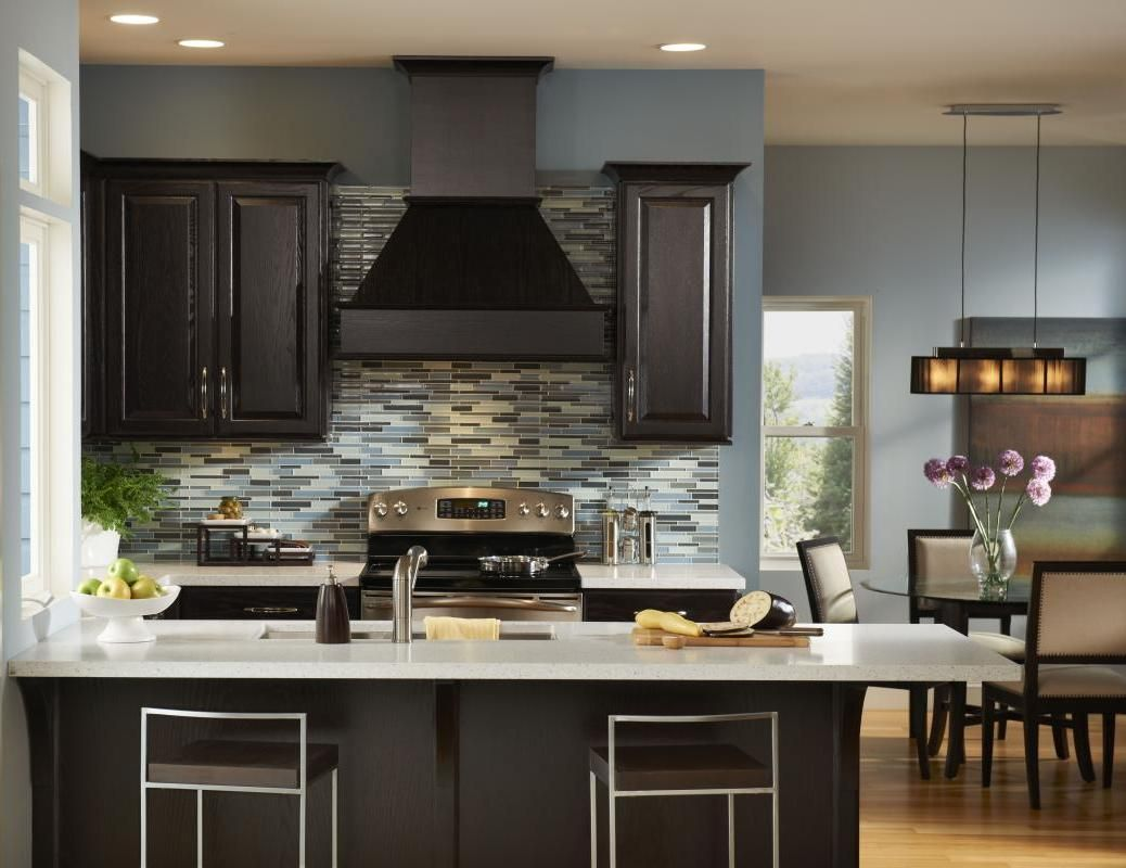 Dark Wood Modern Kitchen Top Modern Kitchen Colors With Dark Cabinets  For The Home