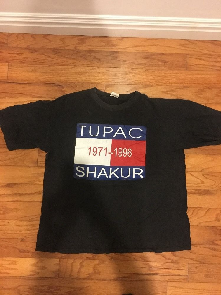 65ec9795 Tupac 2Pac Tommy Hilfiger Parking Lot Memorial T-Shirt Rare sz XL #na  #BasicTee