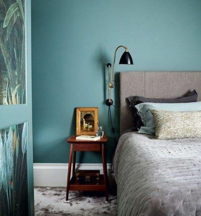 1001 Idees Pour Une Chambre Bleu Canard Petrole Et Paon Sublime Deco Chambre Bleu Chambre A Coucher Monochrome Idees Chambre