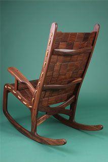 Vermont Folk Rocker   Custom Made Hardwood Rocking Chairs