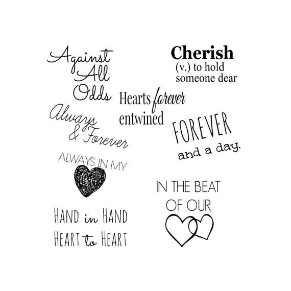Overlay PNG Love Commercial Use Fonts For Scrapbook Words and Phrases Clip art Family Word Art Collection 10 Quotes