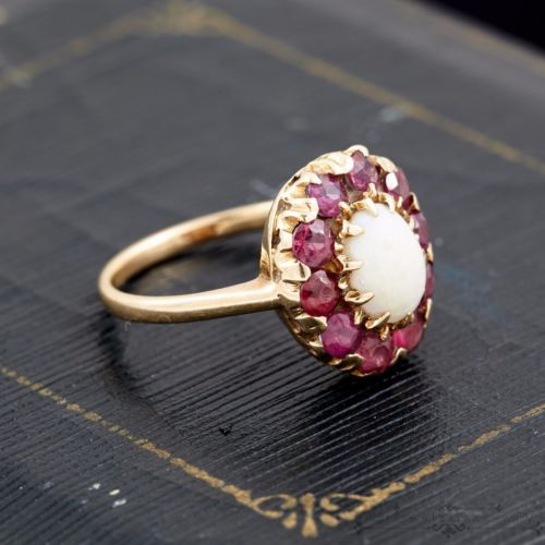 Antique Vintage Deco 10k Gold Baden Foss Australian Opal Sapphire Ring Sz 7 5 In Jewelry Watche Antique Art Deco Jewelry Art Deco Jewelry Antique Art Deco