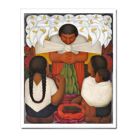 Day of Dead  by Diego Rivera  Paper Print Repro