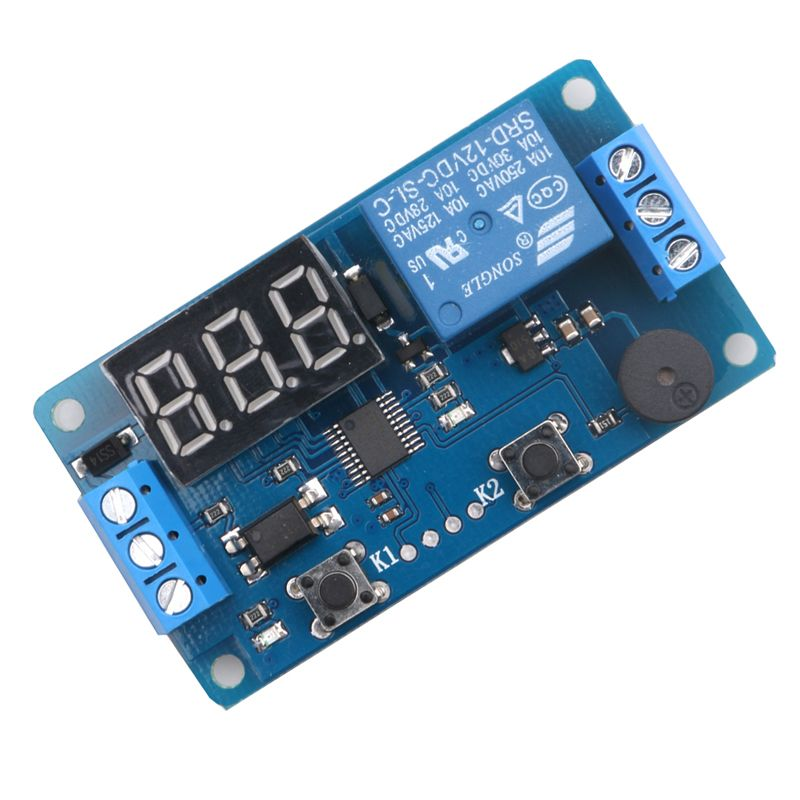New Dc 12v Led Display Digital Delay Timer Relay Control Switch Module Plc Automation 12v Led Relay Timer