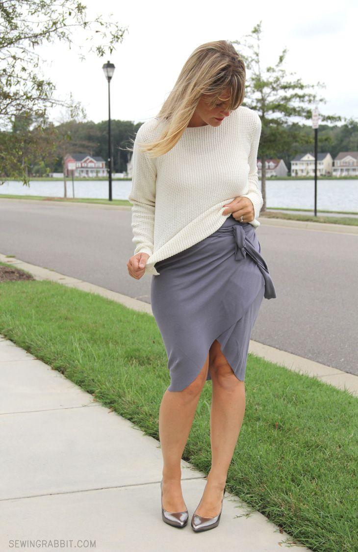 No Sew Wrap Around Tulip Skirt