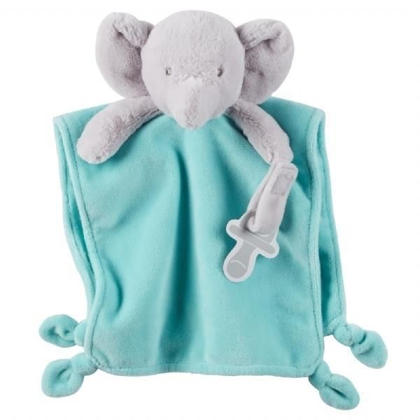 Baby Plush 2 Piece Blanket /& Toy Elephant Hippo Soft kids gift security blanket