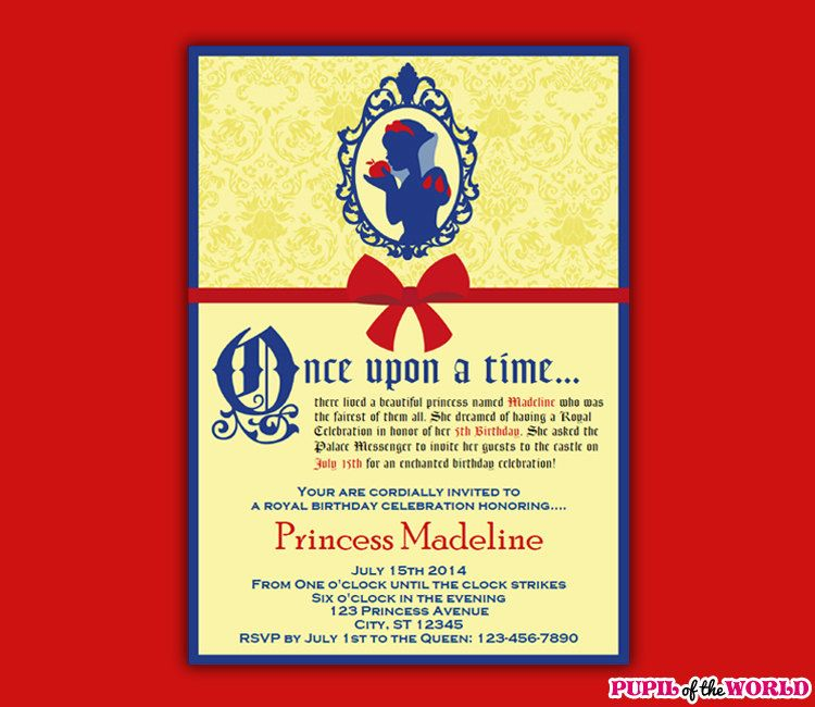 Snow White Invitation Wording Southernsoulblog Com