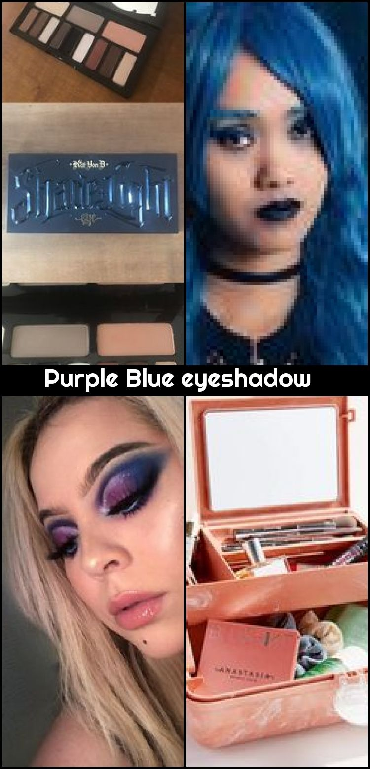 Purple Blue eyeshadow , Morphe Brushes • James Charles