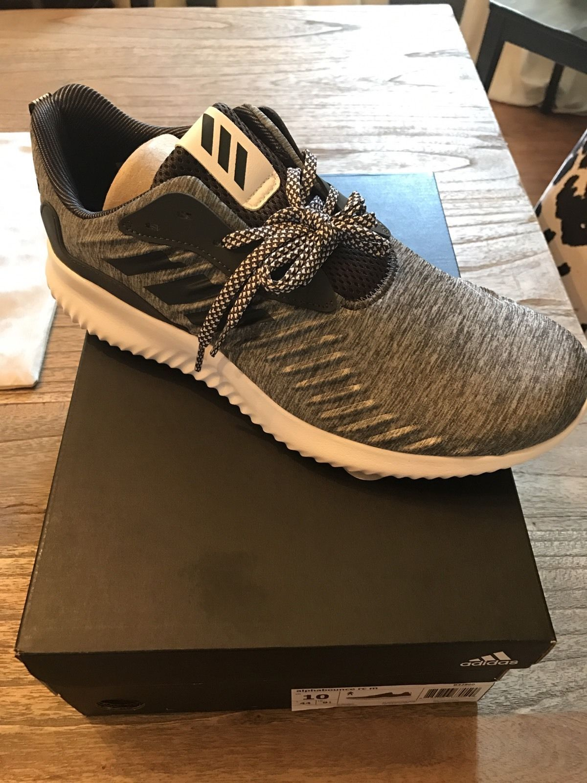 6dce2fc01e803 Adidas Mens Alphabounce RC Running Shoes Size 10 us B42860