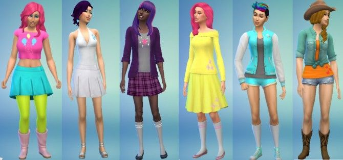 my little pony themed clothing and hair by theuselessmedic at mod