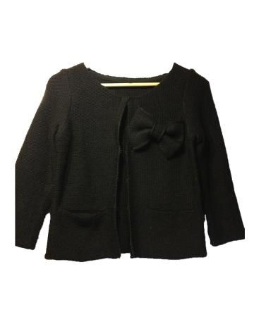 Chaqueta de lana negra mujer