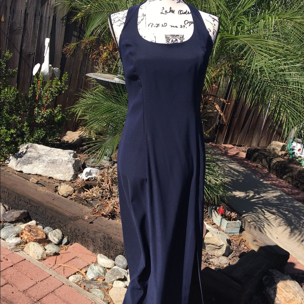 Rampage navy blue halter dress homecoming products