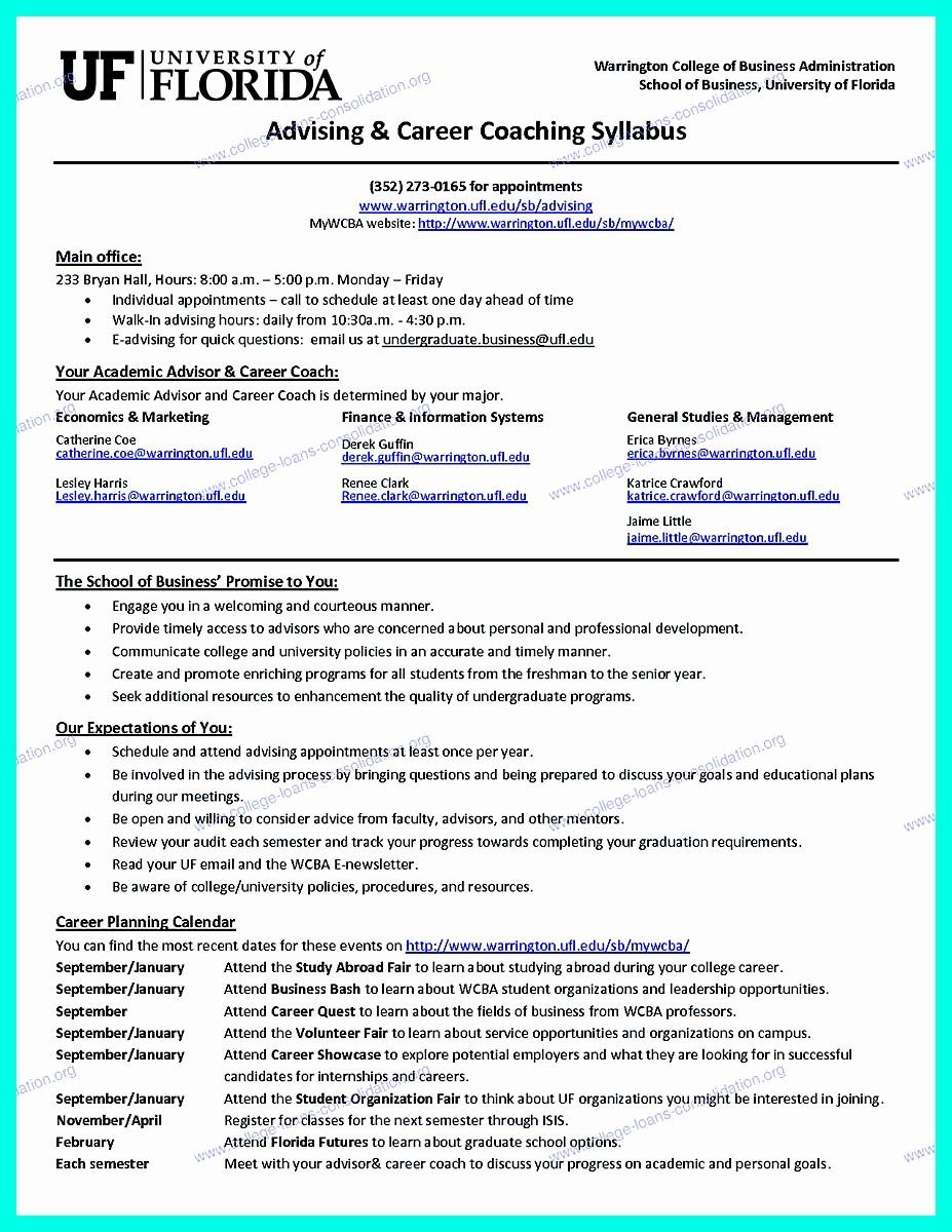 College Graduate Resume Template Fresh the Perfect College