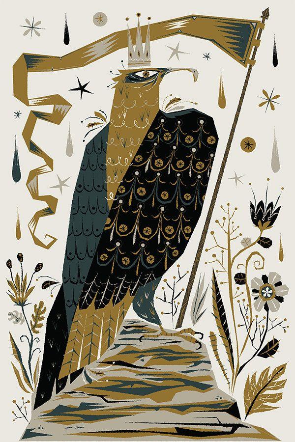 King Hawk - serigraphy print - acerriteno on Etsy