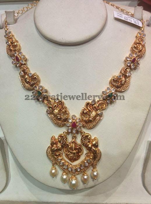Peacock Lakshmi Sets in Uncut Diamonds Uncut diamond Peacocks and