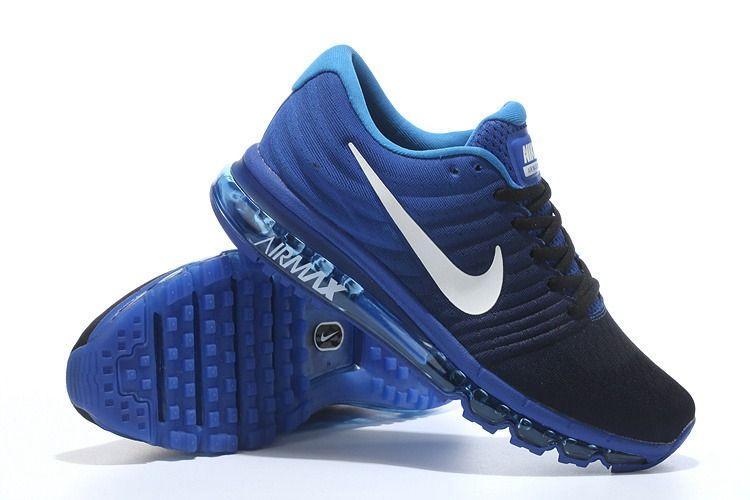 Nike Air Max 2017 Gradual Black Blue Women Men Shoes | A+