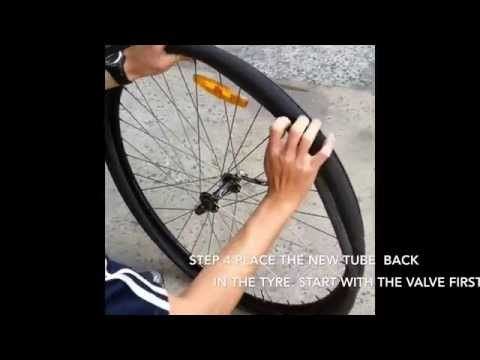7 Easy Steps How To Change Replace A Road Bike Tyre Inner Tube