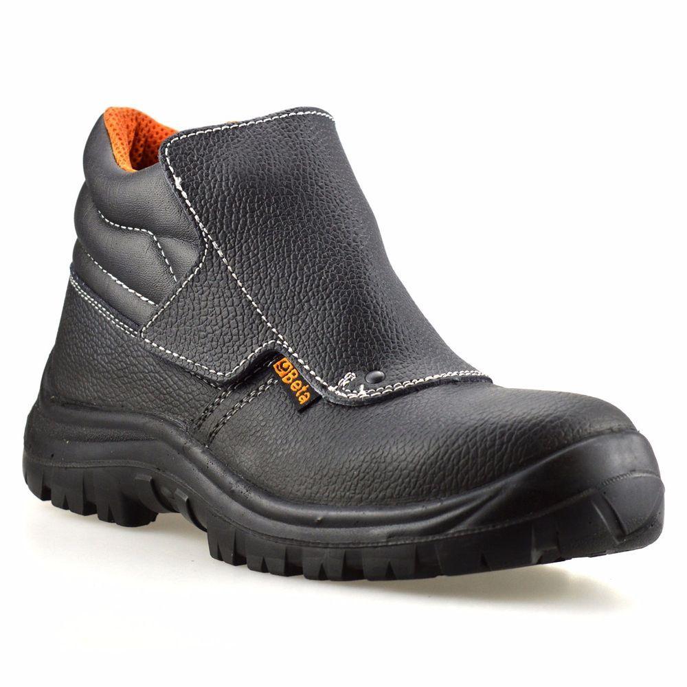 bf81b752c69 Mens Leather Waterproof Welders Safety Steel Toe Cap Work Ankle ...