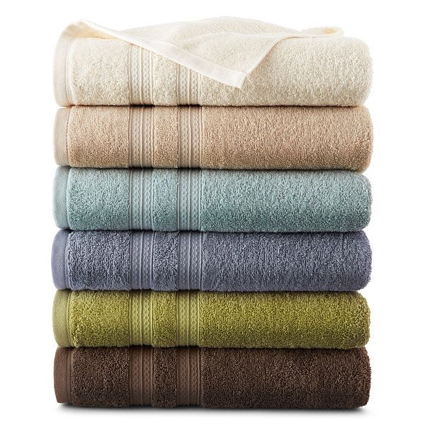 Home Expressions™ Solid Bath Towels - JCPenney | JCPenney | Pinterest