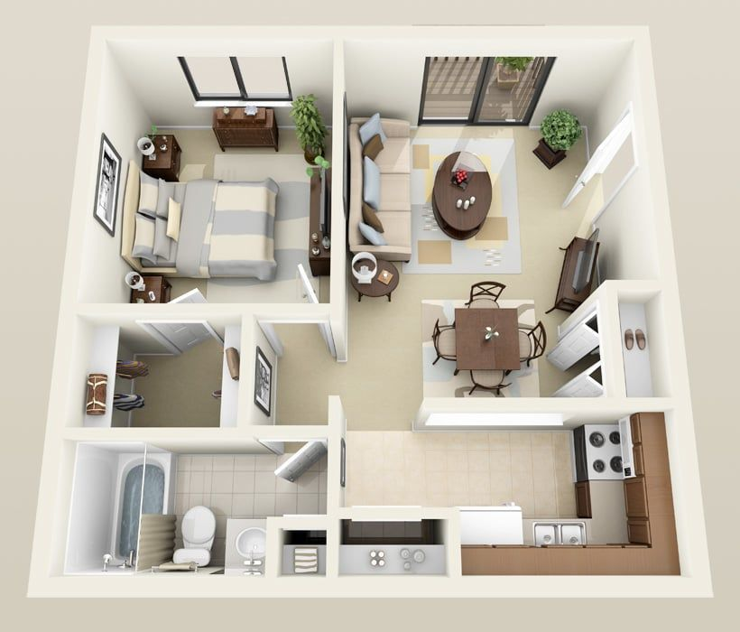 Salem Floor Plan At Heather Downs Apartments Apartment Furniture Layout Sims House Design Apartment Floor Plans