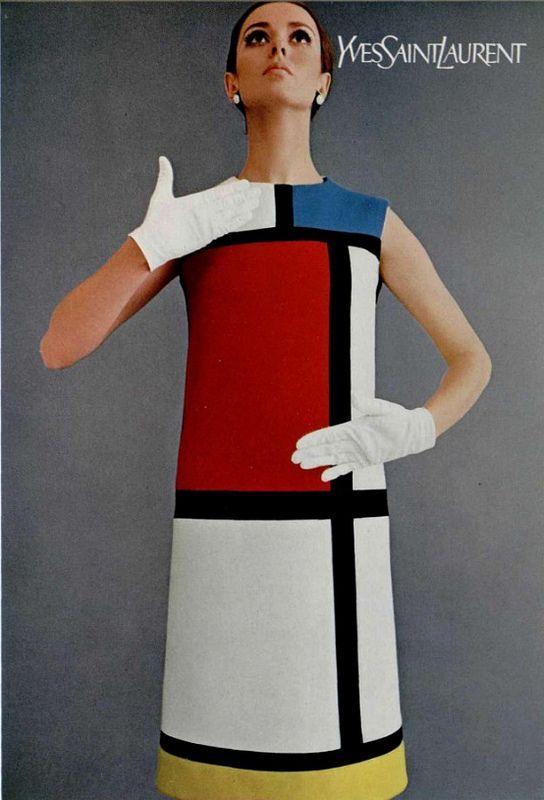 Très YVES SAINT LAURENT | Mondrian, Yves saint laurent and St laurent AN39