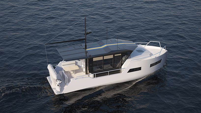Vik Unveils Electric Boat That Can Be Recharged From Solar Panels Or Wind Power Electric Boat Boat Solar Panels