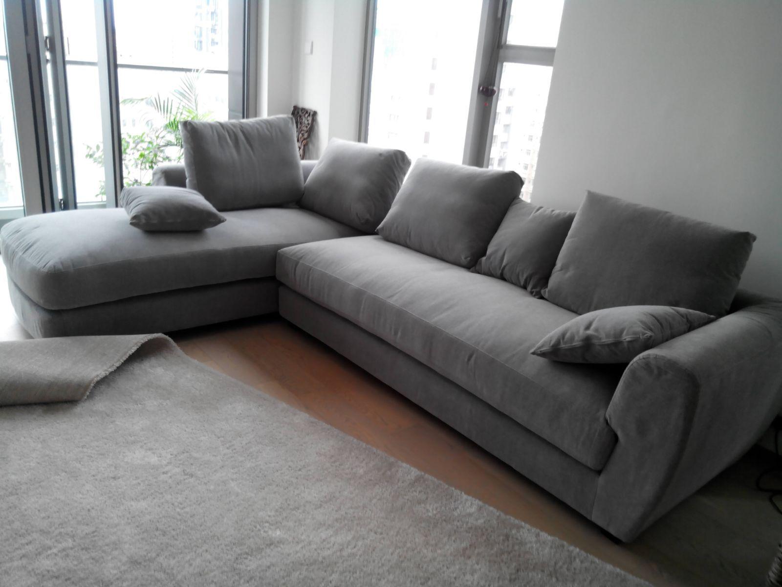 Medlano Microfibre Sectional Sofa 7010 Fabric Sofas