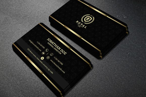 Gold And Black Business Card 40 Black Business Card Business Card Photoshop Luxury Business Cards