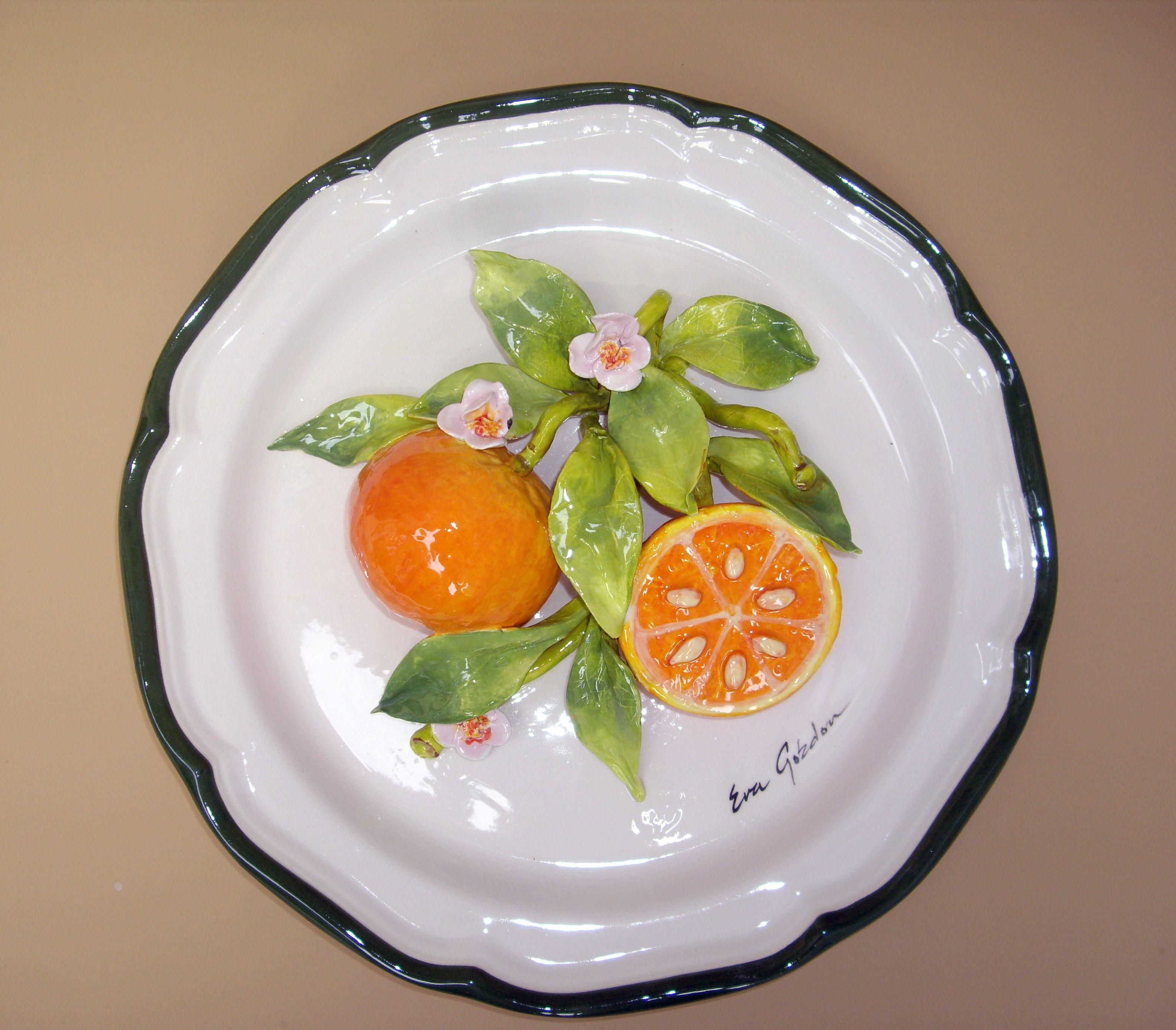 Elements For Good Living Protocol Gifts Ceramic Decor Porcelain Flowers Lemon Kitchen