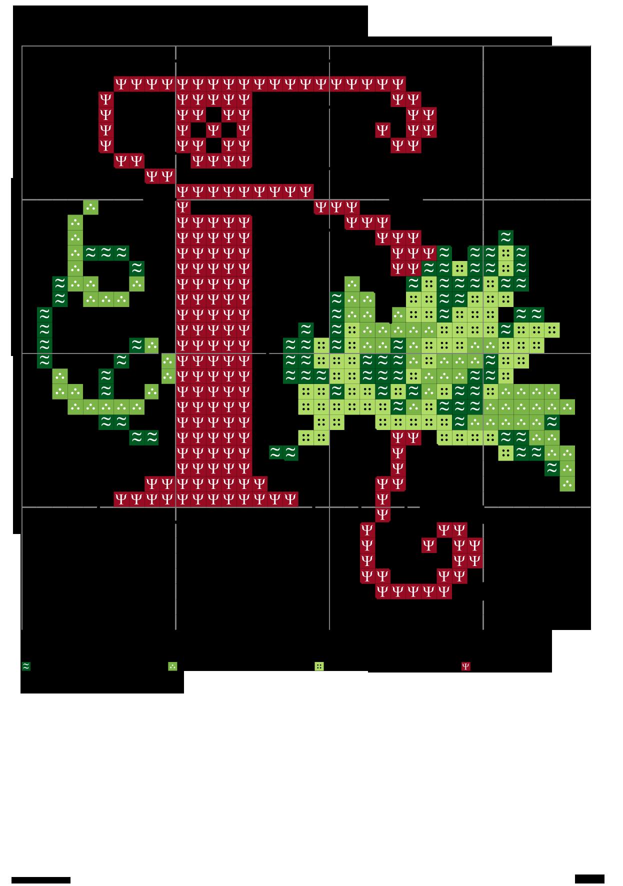 Alfabeto con le foglie: H