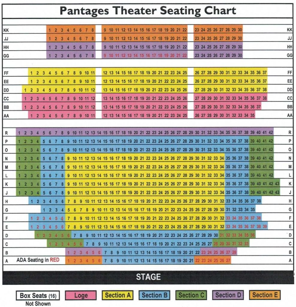 Amazing In Addition To Beautiful Pantages Theatre Los Angeles Seating Chart Di 2020