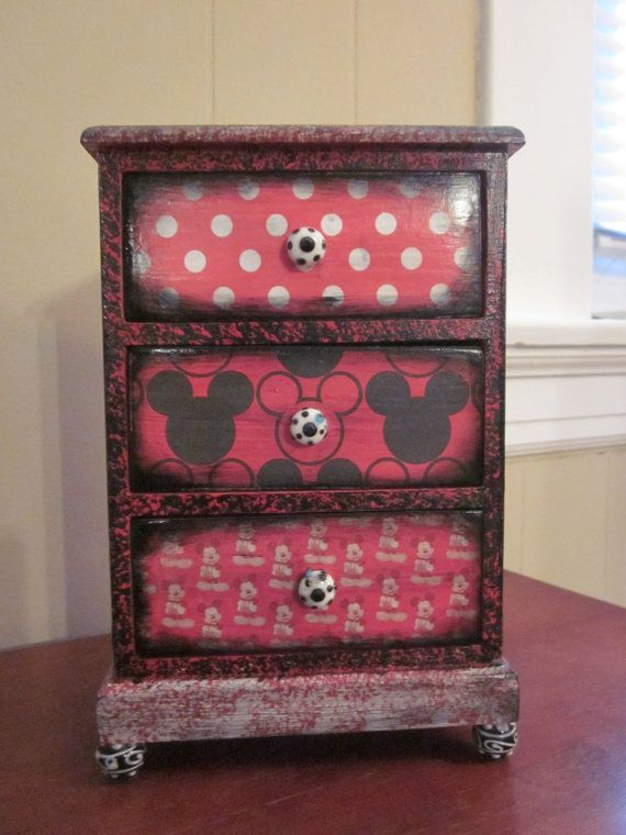 Mickey Mouse Disney Decorative Jewelry Box by OnceRememberedCrafts