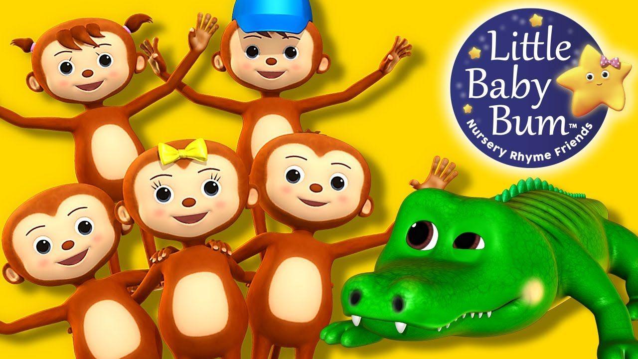 Five Little Monkeys Swinging In The Tree Nursery Rhymes