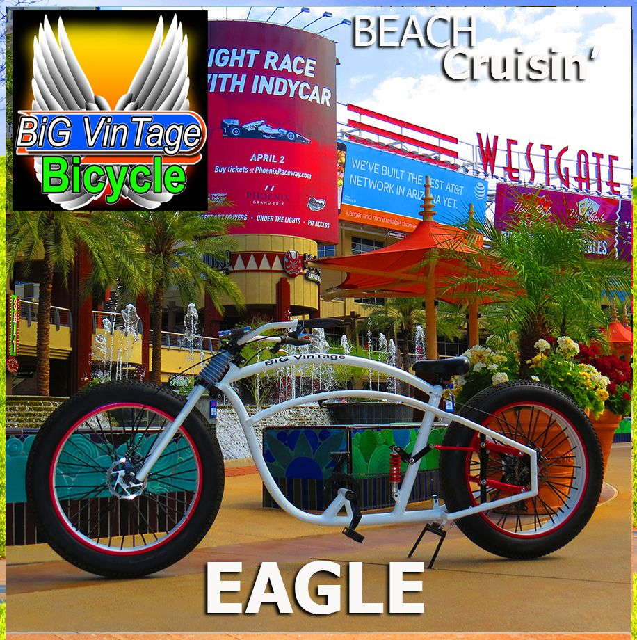 Bvb Eagle Big Vintage Bicycle Makes These Huge Fat Tire Beach  # Leve Tv Electrique