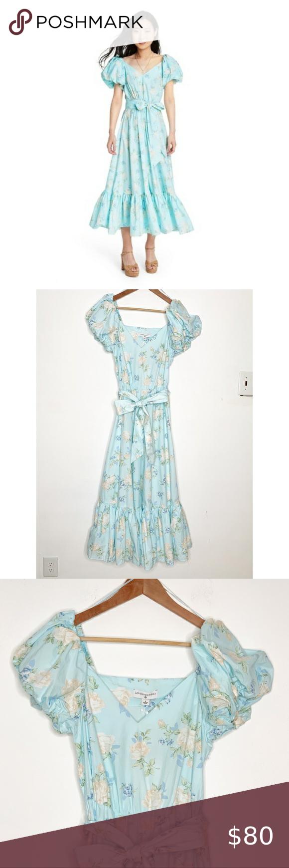 Loveshackfancy For Target Estelle Floral Dress Love Shack Fancy For Target Estelle Pale Blue Floral Romantic Exaggerated Pu Dresses Floral Dress Clothes Design [ 1740 x 580 Pixel ]