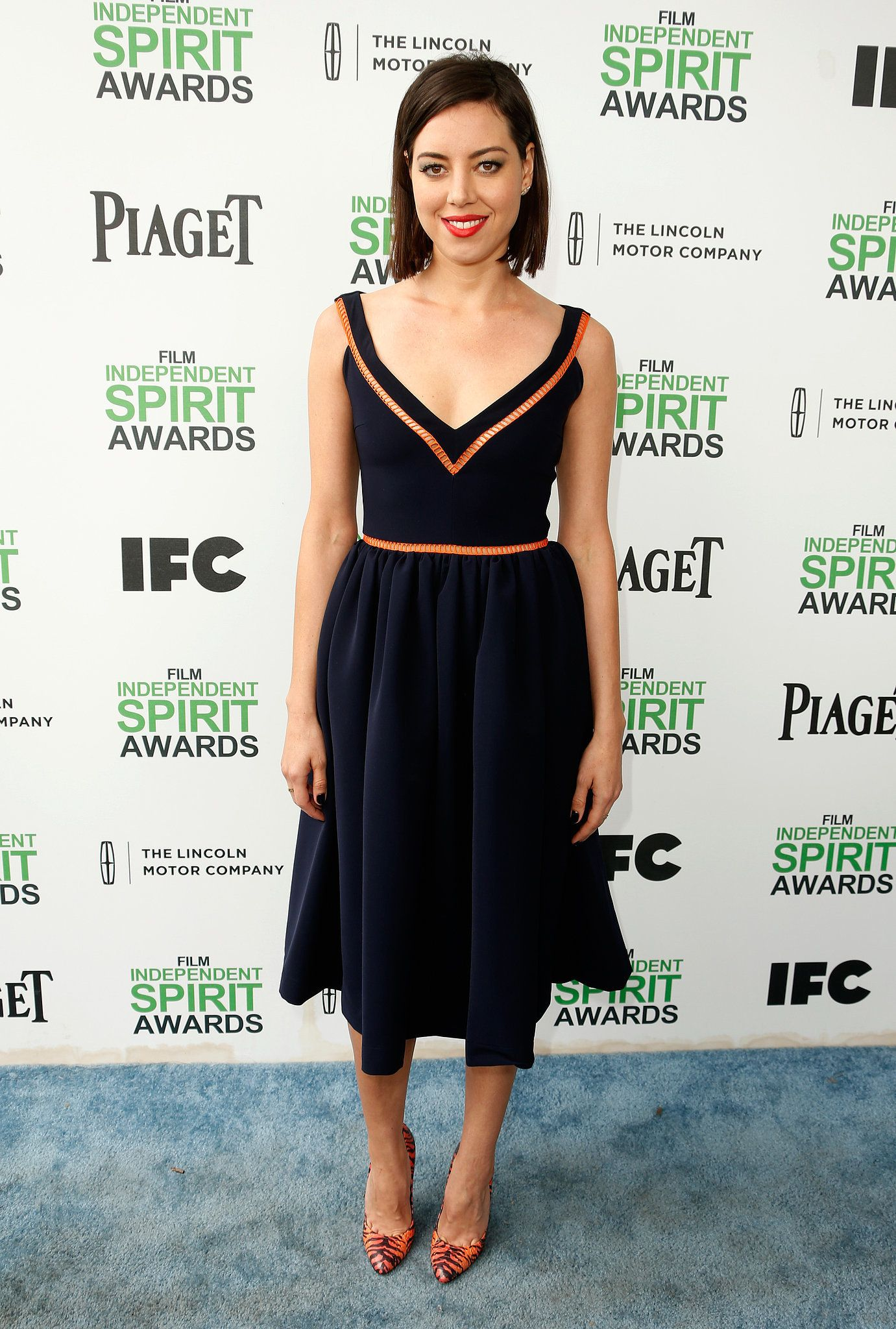 Basic black? Not Aubrey Plaza's Preen LBD.