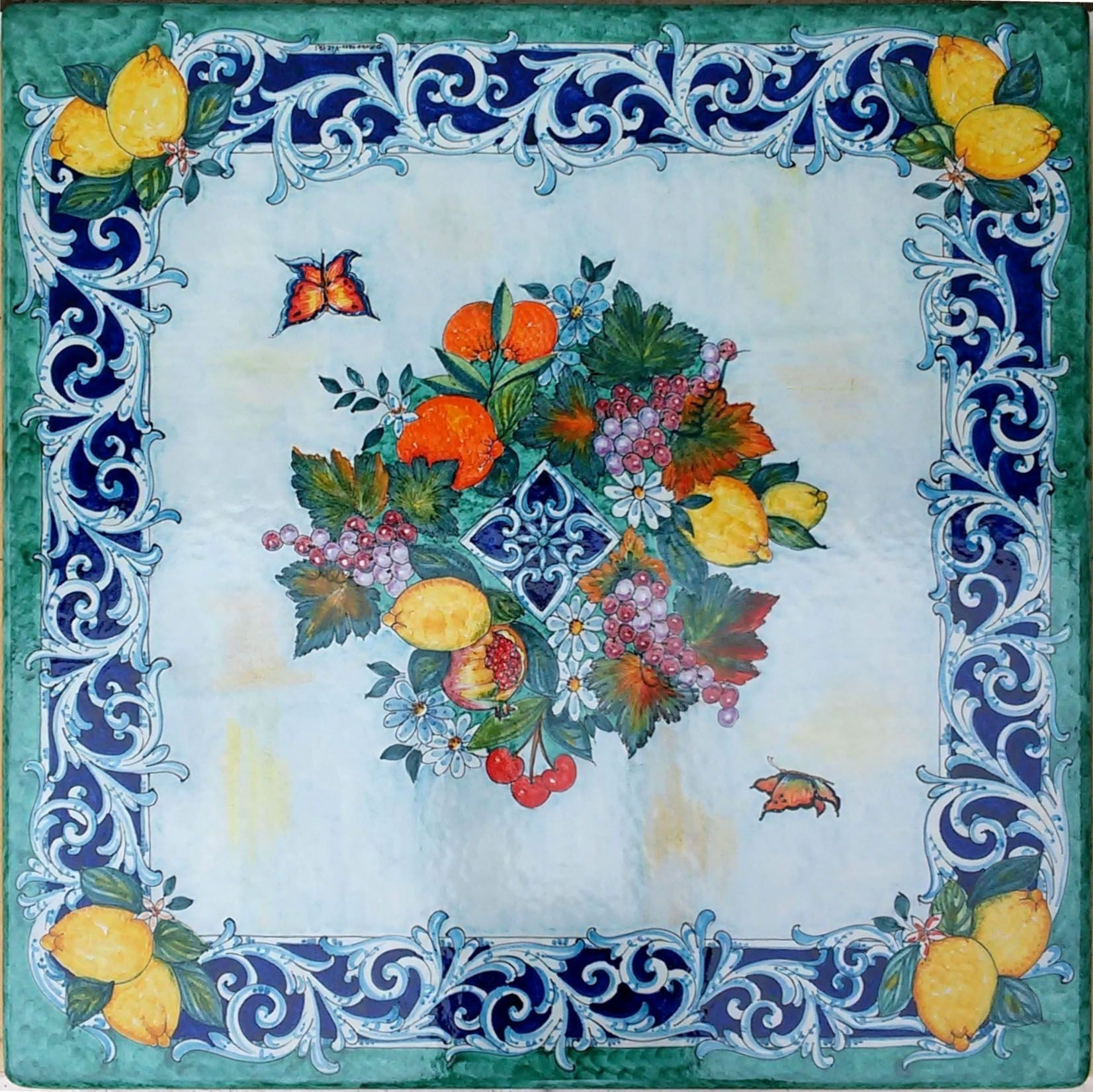 Ceramiche tavoli in pietra lavica maiolicata in ceramica di vietri vietri - Piastrelle pietra lavica ...