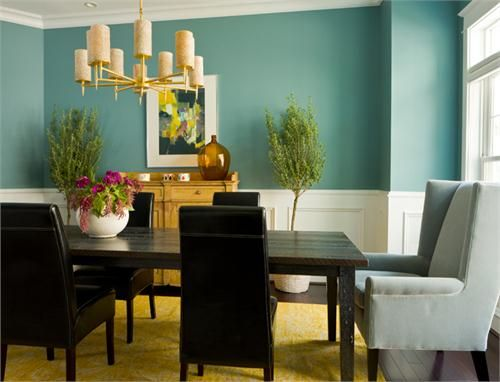 Homey Transitional Dining Room by Margaret Carter on HomePortfolio
