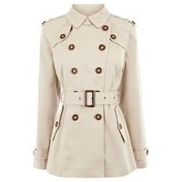 Warehouse Belted Short #Trench #Coat, #fashion, #womenswear