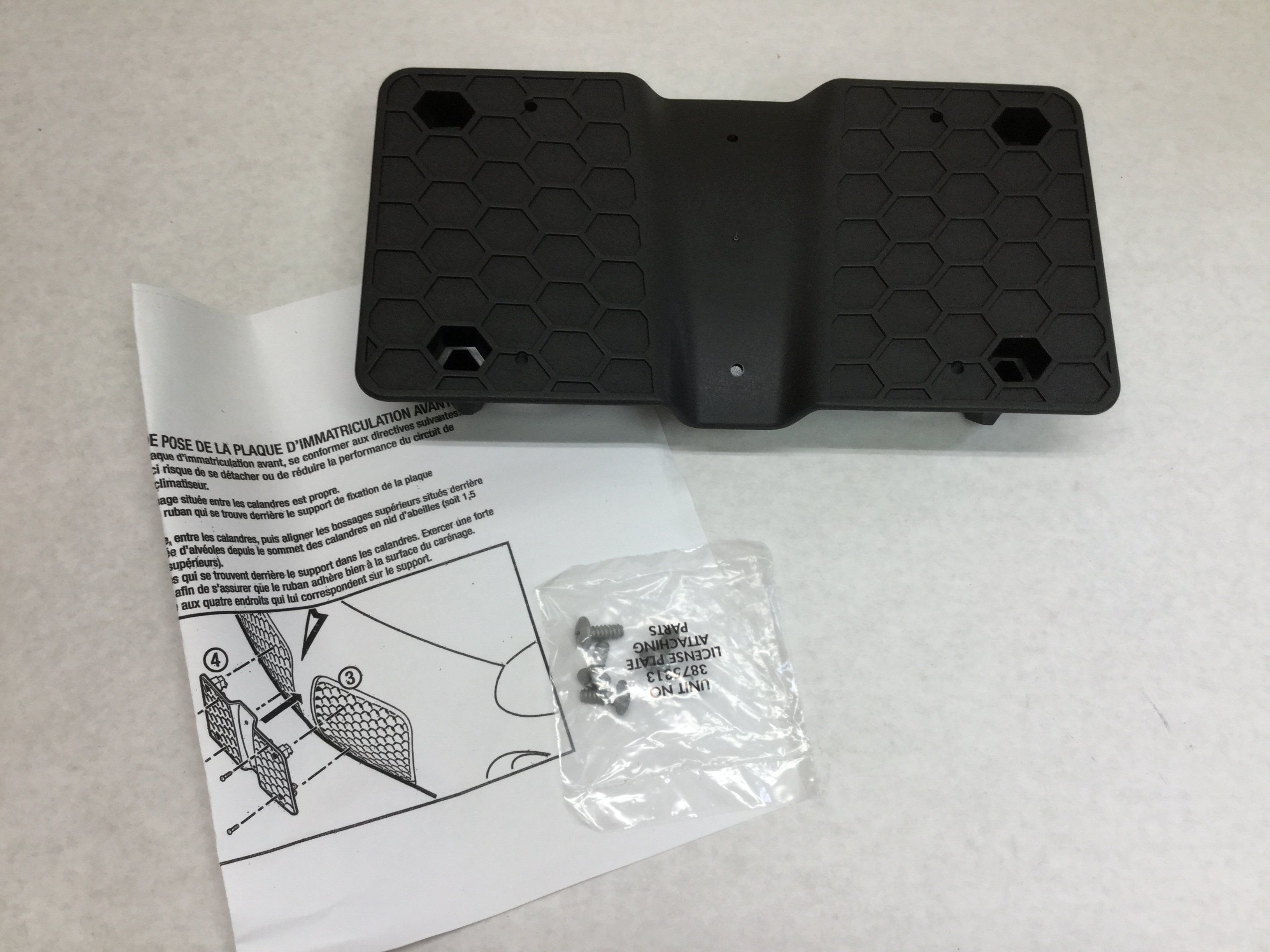 2006-2010 Ford Explorer License Plate BRACKET new OEM 6L2Z-17A385-AAA
