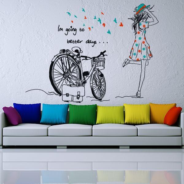 Trucos para decorar tu casa con poco dinero decoraci n low cost pinterest silueta mujer - Vinilos low cost ...