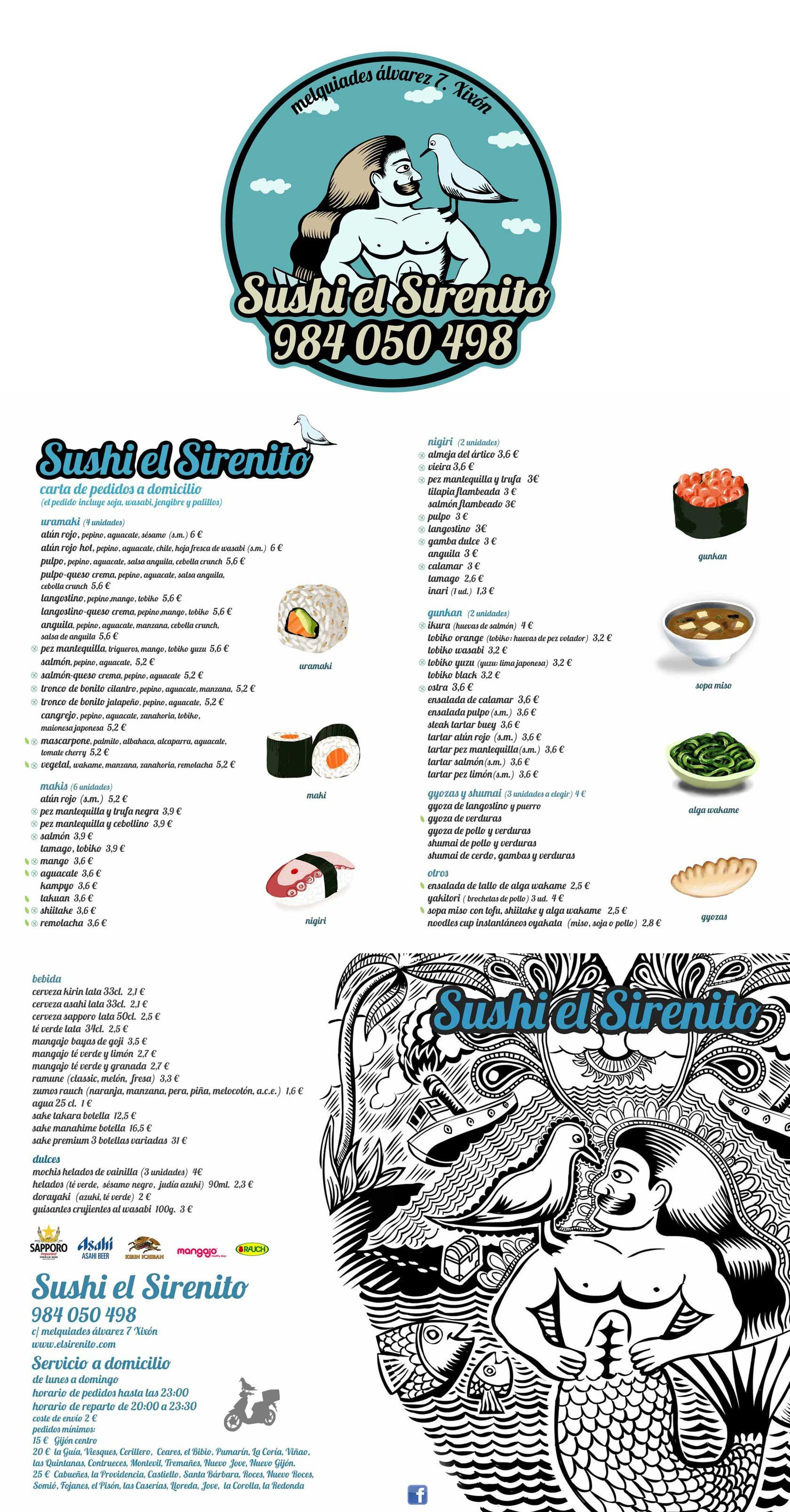 Sushi El Sirenito Comida A Domicilio En Gijon Comida A